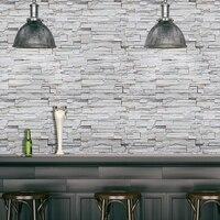 SA-1029 Wohnkultur 3D PVC Holzmaserung Wand Aufkleber Papier Ziegel Stein Rustikalen Wirkung Selbst-Klebe Tapete Zimmer