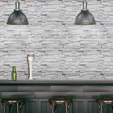 SA-1029 decoração da casa 3d pvc grão de madeira adesivos de parede papel de tijolo pedra efeito rústico auto-adesivo papel de parede quarto