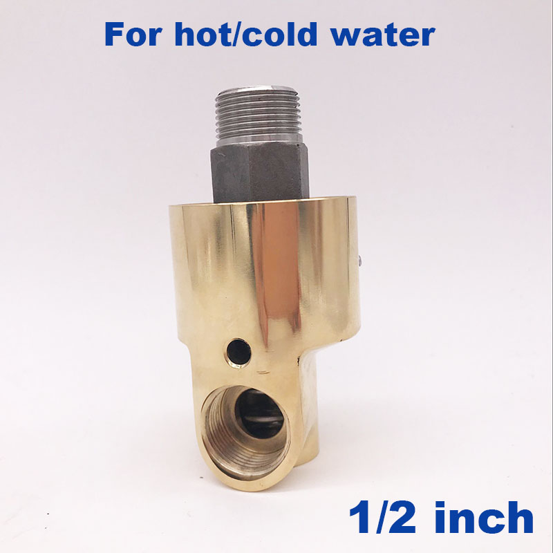 GOGO Left Right hand thread industrial cold hot water 50C 120C brass swivel fitting rotating connector