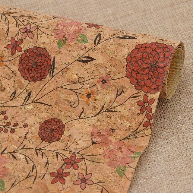 Sacs à motifs floraux de plantes A3 42*30cm | En tissu liège doux, couture faite main, vêtements, bricolage, tissu Quilting, tissu Patchwork