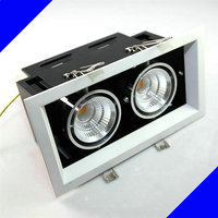 HOT Sale!!! Square Double COB LED Dimmable downlight, 2X12W COB LED ceiling lamps,DHL Free shipping