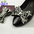 1 pair  yellow bowtie fabric  shoes clip glass beads shoe accessories with glue B367