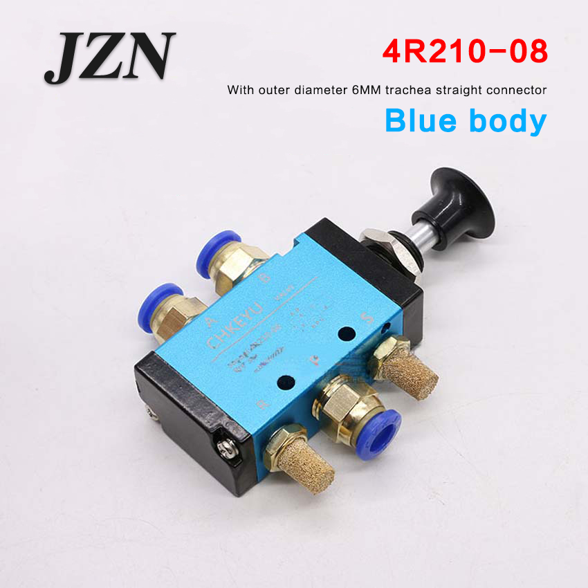 Free shipping ( 1 PCS ) Pull the valve mechanical valve pneumatic switch two three-way 5 pass 3R/4R210-08 control cylinder valve