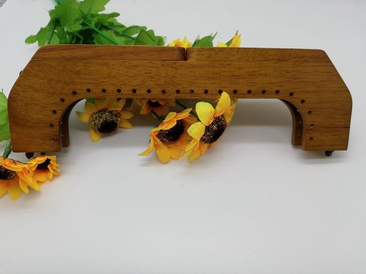 Uma peça 25cm alça de madeira maciça