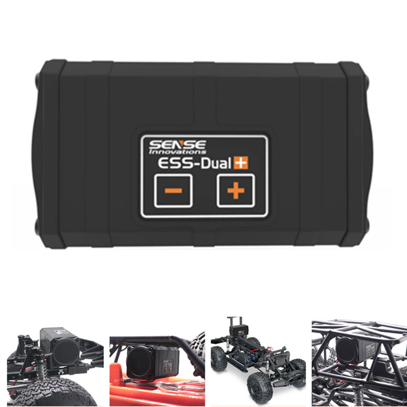 Sense Innovations ESS-DUAL 2 SPEAKERS Engine Sound Simulator For RC Car Axial SCX 10 II WRAITH Traxxas TRX4(China)