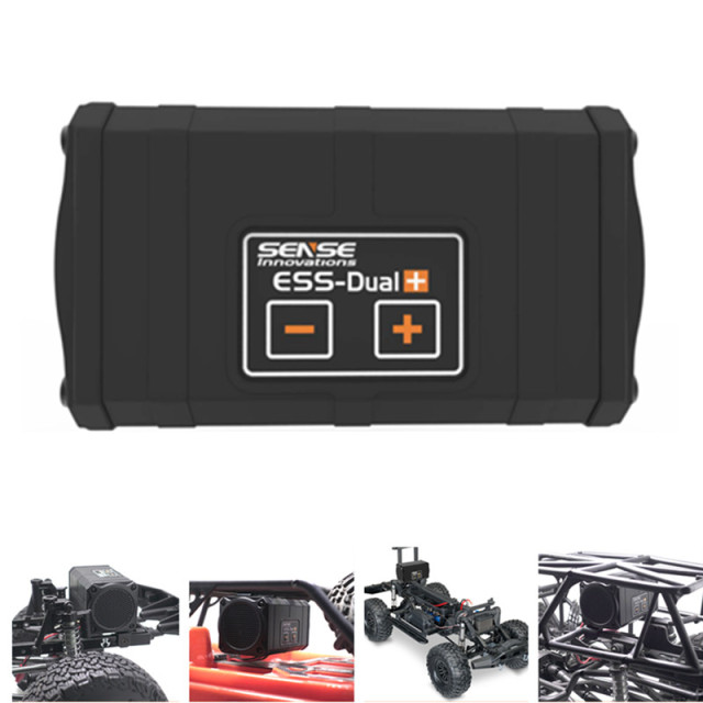 Sense Innovations ESS DUAL 2 SPEAKERS Engine Sound Simulator For RC Car Axial SCX 10 II WRAITH Traxxas TRX4