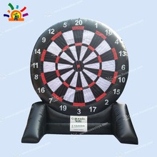 2017 PVC Inflatable Foot Darts Game, 2 Sides Soccer Darts for Sale with free shipping best price of football dart game inflatable soccer darts game on sale
