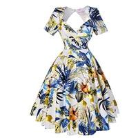 Belle Poque Vintage Dress 2017 New Short Sleeve Knee Length High Elastic Party Women Dressess Wedding