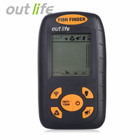 100M Portable Sonar LCD Fish Finder Equipment Wireless Alarm Fishing Tackle WIth Englis Manual