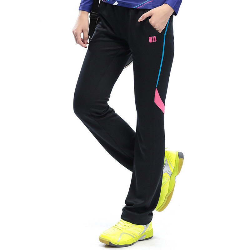 New Women's Sports Pants Long Trousers Woman Elastic Waist Straight Training Sweatpants 28041
