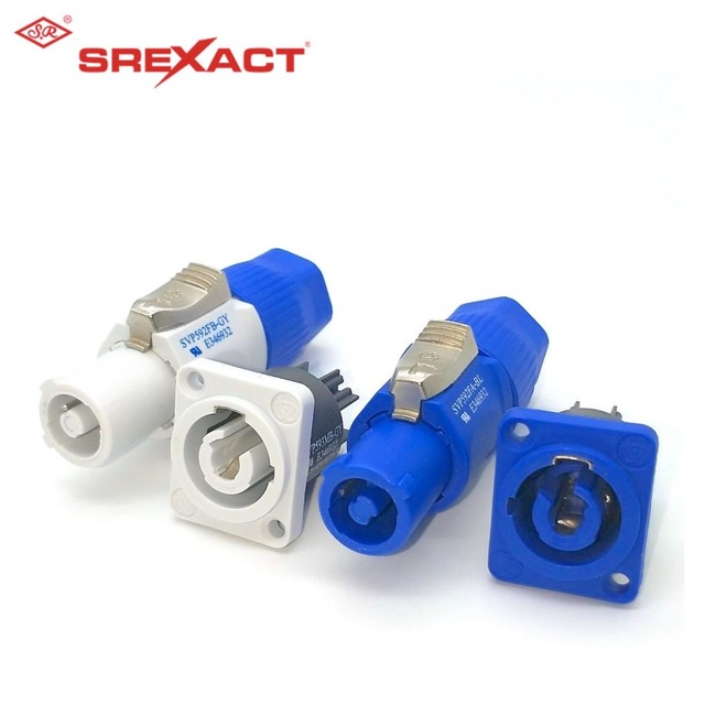 sunrise 1sets blue+1sets gray NAC3FCA NAC3FCB NAC3MPB-1 NAC3MPA-1 PowerCON Chassis Plug Panel Connector adapter Neutrik