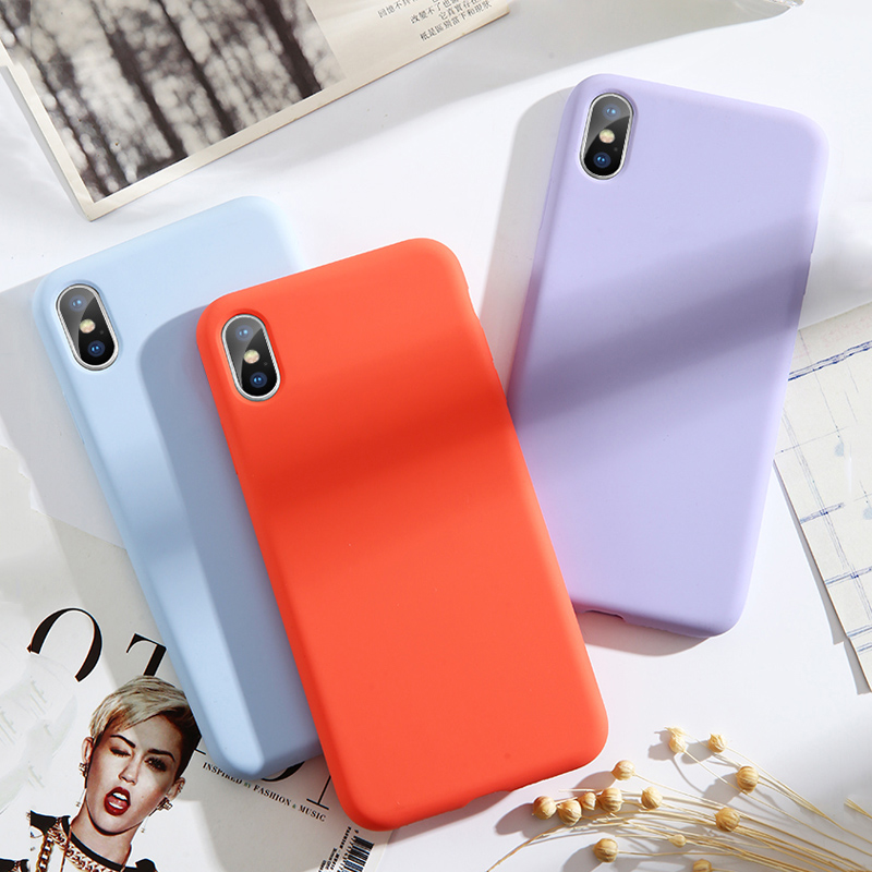 Image 5 - Lovebay High Quality Liquid Silicone Cases For iphone 7 6 6S 8 Plus XS Max XR X Fashion Shockproof Colorful Phone Case Cover-in Fitted Cases from Cellphones & Telecommunications