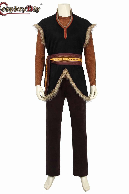 Cosplaydiy reine des neiges Prince Kristoff Costume adulte Prince Hans Cosplay Costumes Costume complet pour hommes Halloween carnaval
