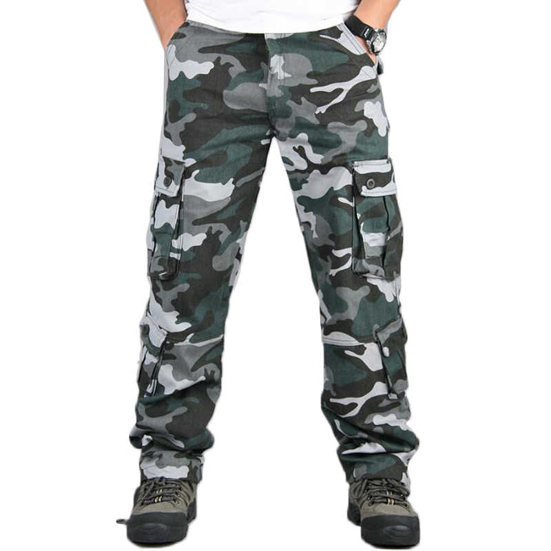 7dd4070f61e Men camouflage pants multi pocket functional camo tactical pants mens  casual cargo trousers military army overalls