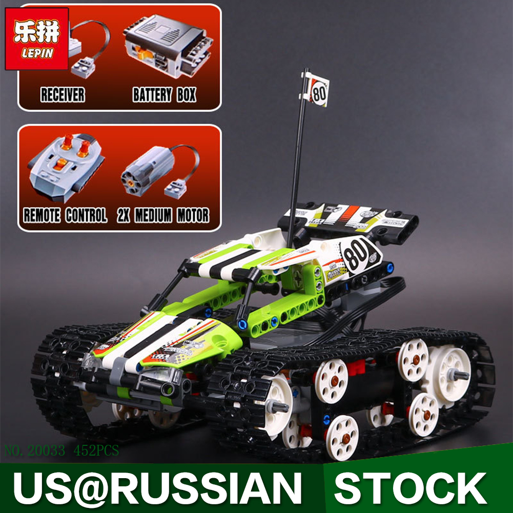 New Lepin 20033 Technic Series The RC Track Remote-control Race Car Set Building Blocks Bricks Educational Toys 42065 glow race track bend flex glow in the dark assembly toy 112 160 256 300pcs slot race track 1pc led car puzzle educational toys