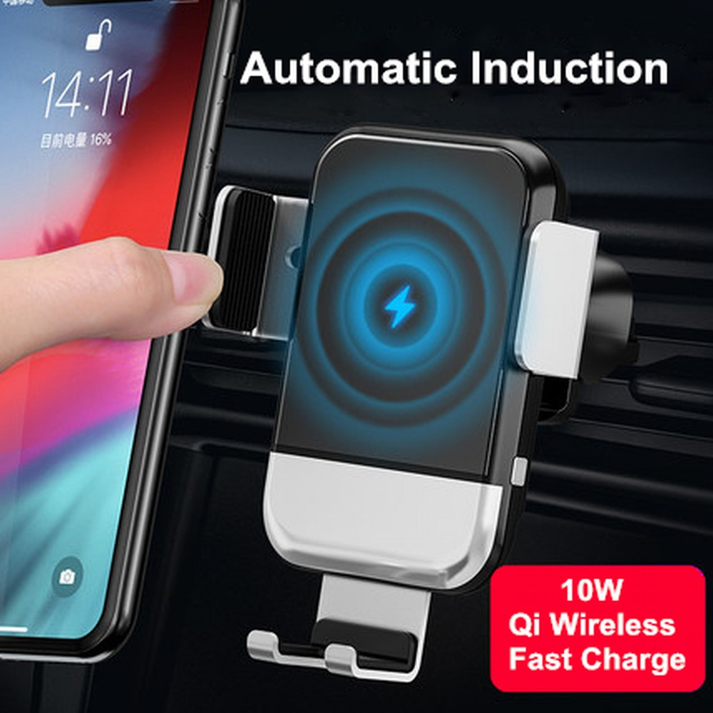 Car Phone Holder For Samsung Galaxy S8/S9 Plus/S7 note 8 Automatic Induction 10W Qi Wireless Quick Charger Navigation Bracket