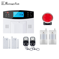 Free Shipping Wireless Home Security GSM Alarm System Intercom Remote Control Autodial Siren Sensor Kit