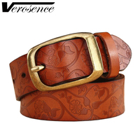 TG 100 High Quality Luxury Women Belt Genuine Leather Female Waist Strap Top Pin Buckle