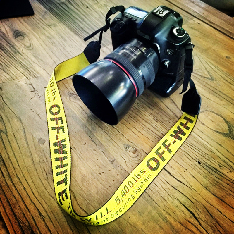 Off White Neoprene Neck Strap For Canon Nikon Pentax Sony Fuji Olympus Camera