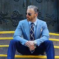 מכנסיים מעיל חליפות גברים Slim Fit Mens חתונת Prom איטלקית ארוחת ערב חליפות 2 Pieces masculino ליזר טוקסידו חתן מותאם אישית עשה