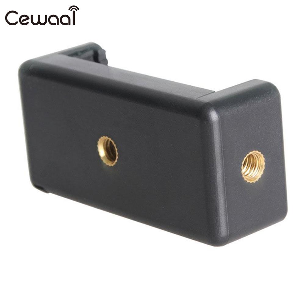 Cewaal Universal Mobile Phone Clip Clamp Bracket Adapter Holder Stand Support Retractable