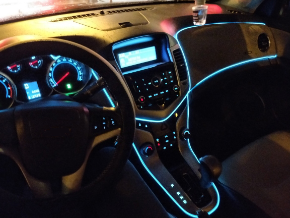 Light-Interior Atmosphere-Lamp Dashboard-Console Cold-Light Car-Ambient Neon Led Battery-Case/driver
