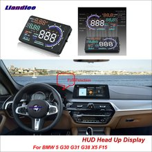 Liandlee For BMW 5 G30 F10 E39 X5 E53 2014-2018 OBD Safe Driving Screen Car HUD Head Up Display Projector Refkecting Windshield цена
