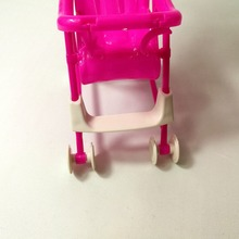 Kid Play House Nursery Furniture Stroller Plastic Trolley Accessories Toys For Barbie Kelly Size Doll Girls best Puppet Kid Gift