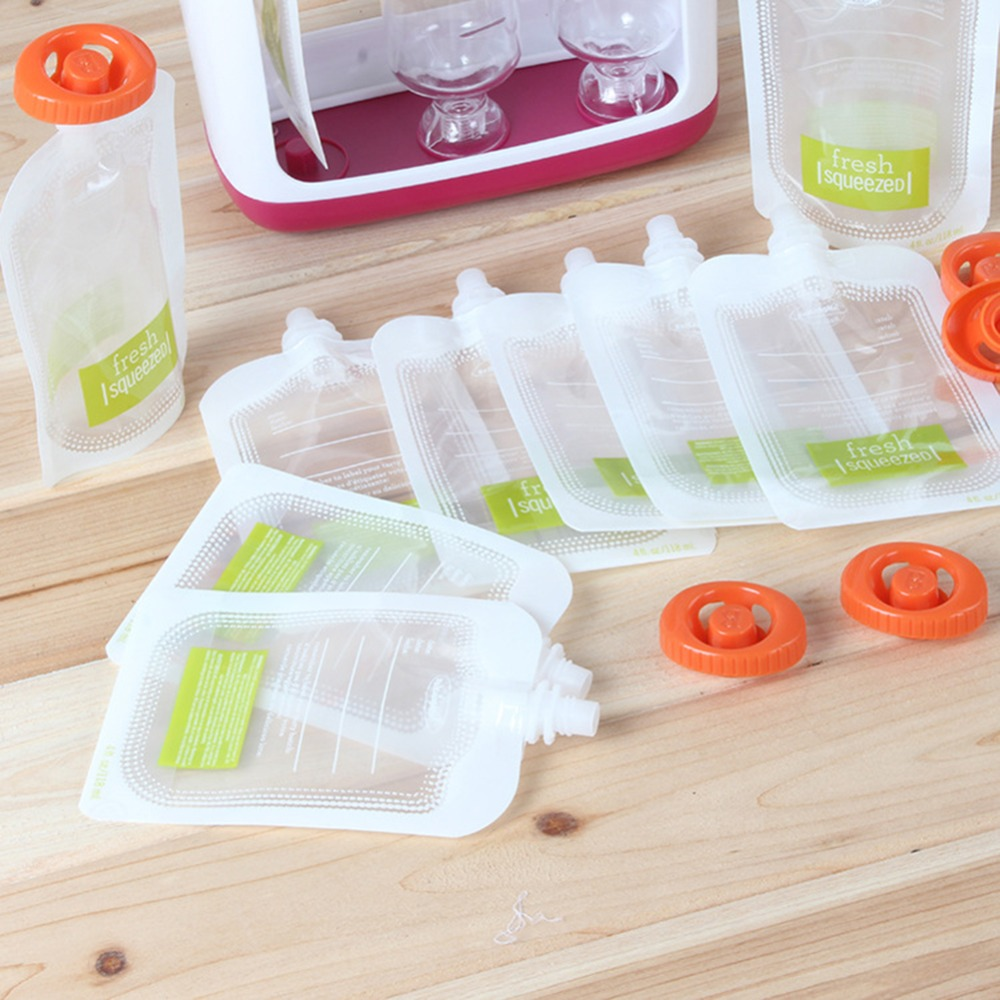 Baby Food Maker Baby Feeding Containers Storage Supplies Newborn Toddler Solid Food pouche Fresh Squeezed Fruit Juice #281642 8