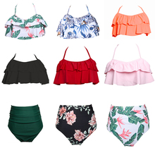 Bikini 2019 Separate Swimsuit Women Tops And Bottoms Swimwear Woman Ruffle High