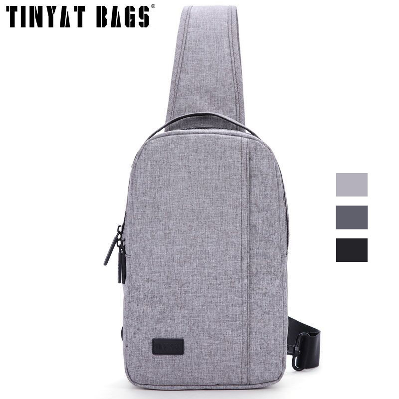 TINYAT Men Bag Waterproof Shoulder Sling Bag pack Design Travel Crossbody Messenger Bag Casual Chest Bag for women for pad 608