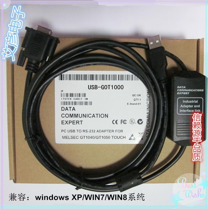 NEW Touch-screen GT11/GT15/GT1040/GT1050 Series Download Line USB-GOT1000