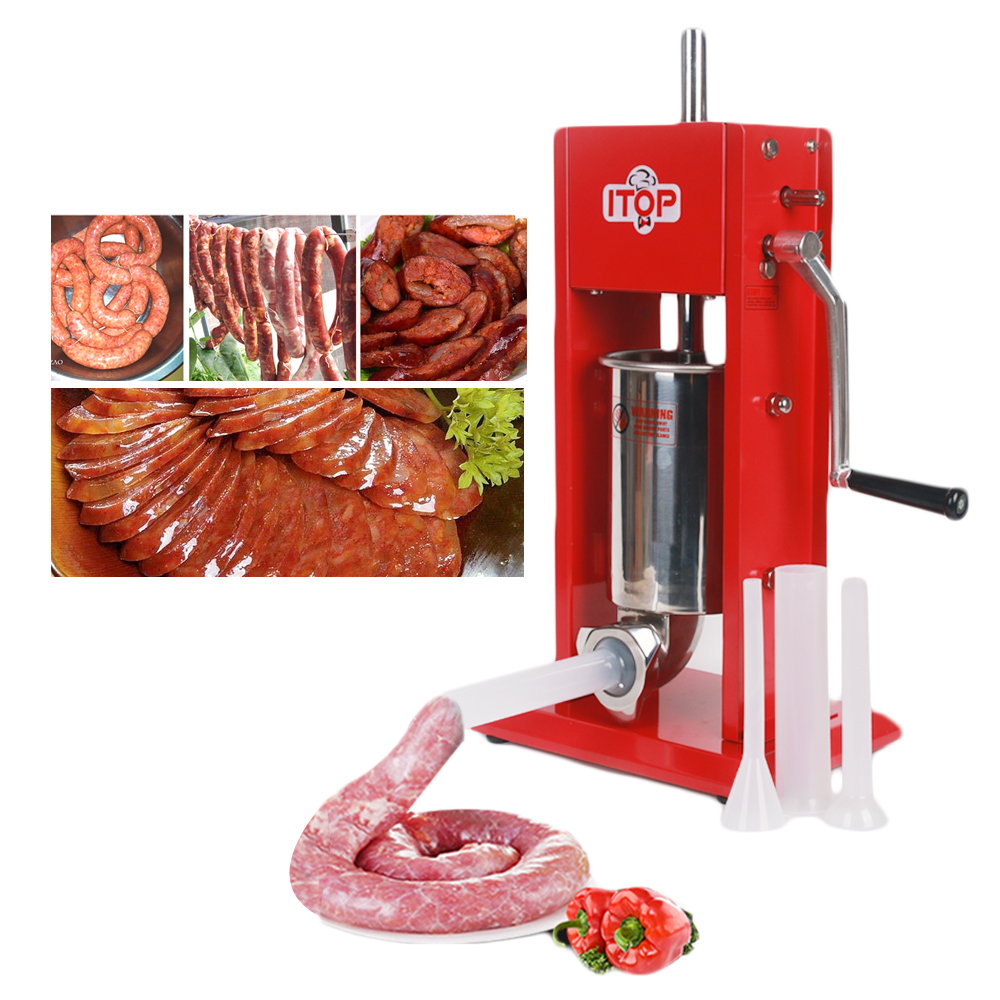 Food Processor 3L Big Sausage Maker Manual Sausage Stuffer Machine Fast Delivery Making Filling Vertical Sausage Filler wavelets processor