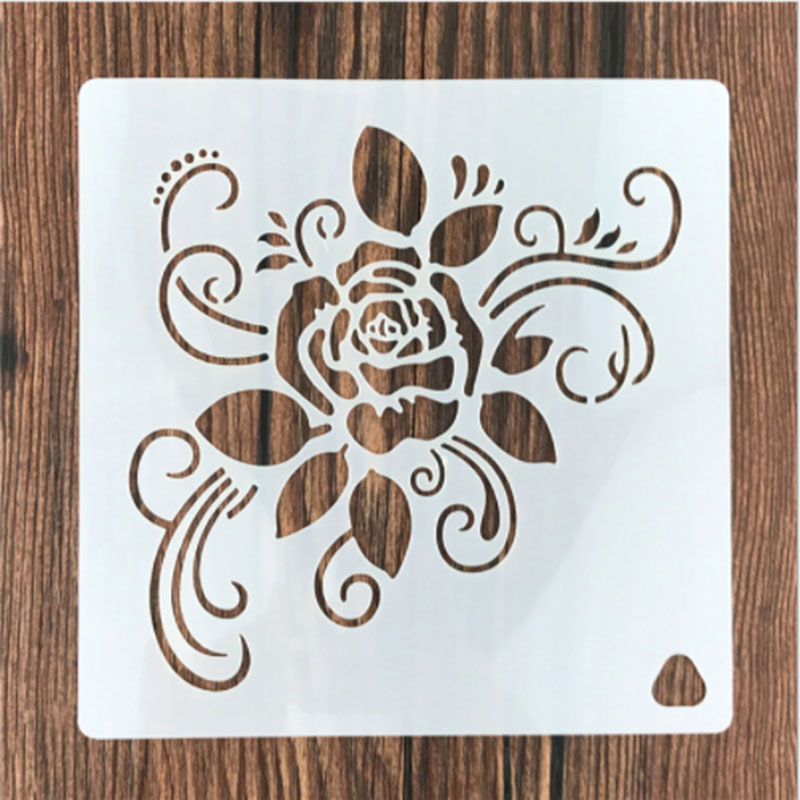 1PC Natural Rose Flower Vine Shaped Reusable Stencil Airbrush Painting Art DIY Home Decor Scrap Booking Album Crafts