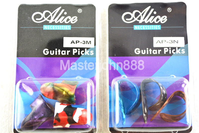 Alice AP-3M/N Colorful Celluloid Finger Style Acoustic Guitar Picks Finger/Thumb Picks Free Shipping