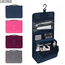 LHLYSGS Brand Women Travel Cosmetics Organizer Cosmetic Bag Men Large Necessity Waterproof Nylon Make Up Case Wash Toiletry Bag