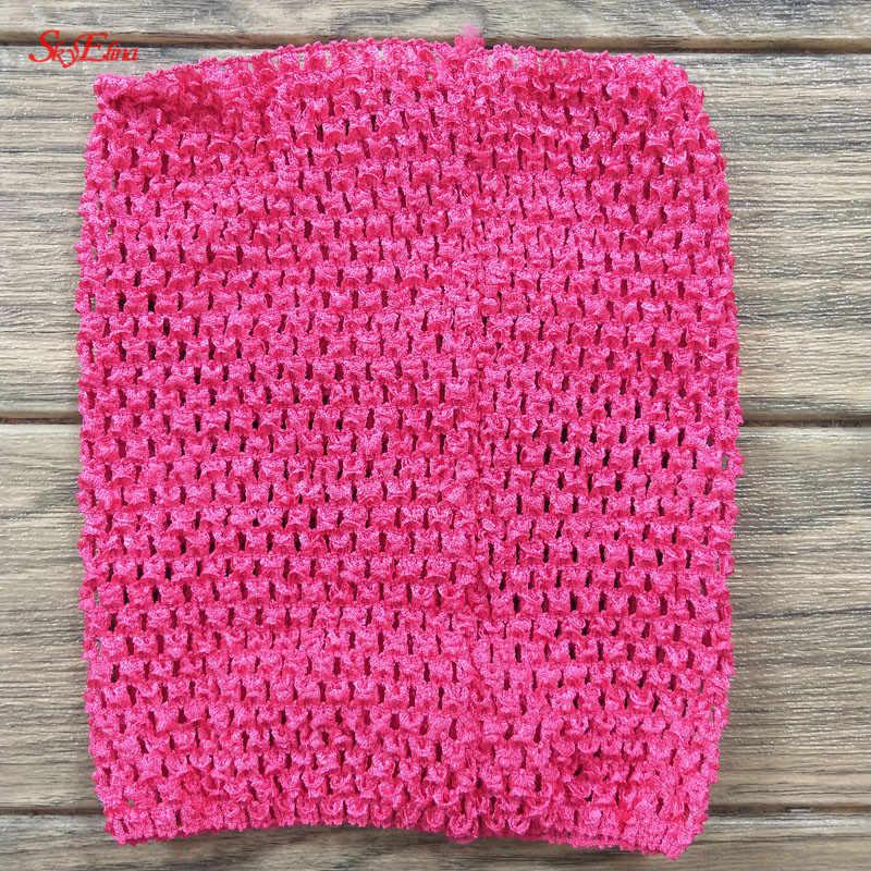 9 pulgadas elástico Crochet pecho envoltura 23x20cm niña tela diademas de punto Tutu Tube Tops DIY niños falda vestido Crochet diadema 5Z