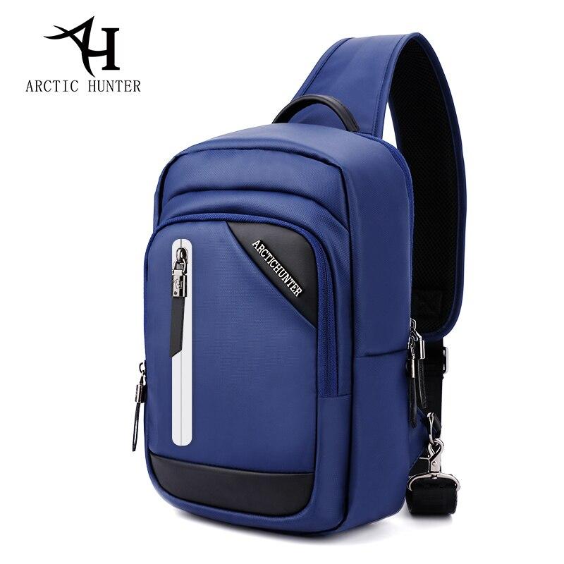 37fa3bf267d3 Fashion Backpack Waterproof Crossbody Bags for Men Messenger Chest Bag Pack  Reflective Strip Single One Shoulder