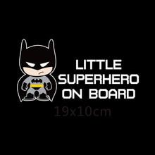 Aliauto Little Superheroes Baby On Board Car-Styling Reflective Car Stickers/Decals for ford focus vw golf 6 7 hyundai honda kia