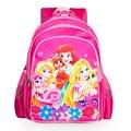Rosa de la historieta encantadora princesa de las muchachas bolsas escuela Niños niños diario primaria mochila bookbag lindo Dulce de gran capacidad a prueba de agua