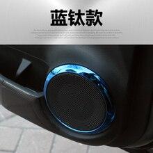 Il trasporto libero 4 pz/lotto accessori per auto adesivi per auto auto porta altoparlante del corno decorazione della copertura del cerchio per il 2017 2018 Nissan CALCI