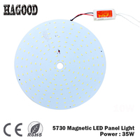 Free Shipping 35W Smd5730 chip Led Ceiling Panel Light/Led Circular Ceiling Lighting 180 265V Chandelier Lamp