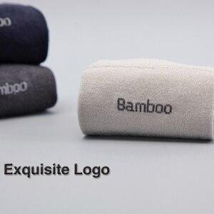 Image 3 - 2018 Мужские бамбуковые носки брендовые гарантирующие антибактериальные удобные дышащие повседневные мужские носки Дезодоранты (10 парт/лот)
