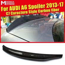 For Audi A6 A6Q High-quality Rear Spoiler C7 Caractere Type Coupe Carbon Fiber Trunk Wing car styling 2013-17