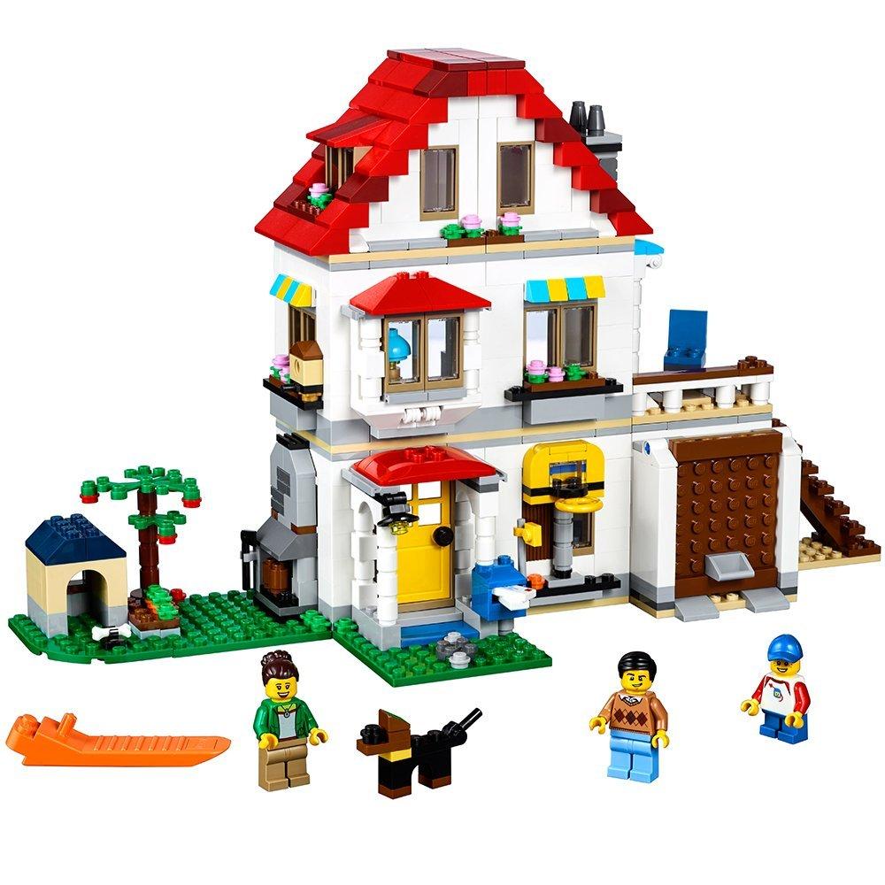 Classic Creator 24046 3in1 Modular Family Villa City Building Blocks Bricks kits Kids Model Toys For Children Compatible Legoe цена