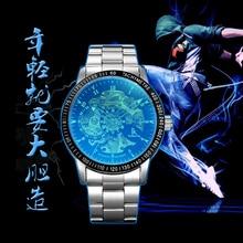 IK моды водонепроницаемые часы мужчины автоматические механические часы полые тонкие полосы студент отдыха таблице
