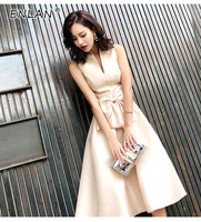 Korean Summer Ceremony Dress Off Shoulder Long Elegant Dress Party Uniform Occasion Dresses For Women