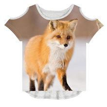 0e78ce6ead9b7 الاطفال تيز الأزياء طفلة ملابس الأطفال العلامة التجارية تصميم T قميص أفضل  الثعلب الطباعة الصيف 3D