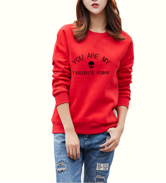 2017 autumn YOU ARE MY FAVOURITE HUMAN mma style Women Sweatshirt funny kpop Hoodie femme hip hop brand tracksuit mma mma tops
