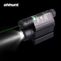 Tactique Ohhunt 5 mW Puissant Vert Laser Sight Portée Ensemble 200 Lumen LED lampe de Poche Combo Avec Interrupteur À Distance